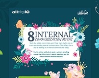 8 Internal Communication Myths - Infographic