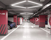 """Underground parking in RC """"Kub House"""""""