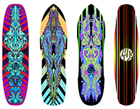 Skateboard Graphics for Lush Longboards