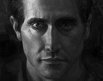 Jake Gyllenhaal portrait_Value study