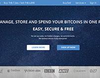 Bitcoin wallet Web redesign mockup