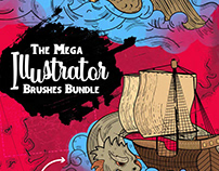 The Mega Illustrator Brushes Bundle - 3200+ Brushes