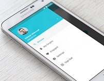 Android App Material Design Sidebar