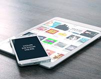 Samsung Note 3 Mockup - Free PSD