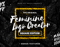 The Feminine Logo Creator - Square Edition, 1000s Logos
