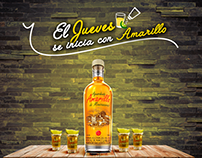 Social Media Aguardiente Amarillo
