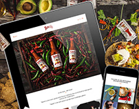 Tapatio Hot Sauce Webdesign