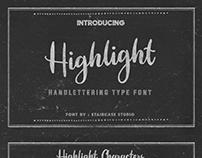 Highlight Handlettering Font
