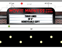 Movie Madness Illuminated Sign Design