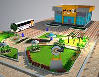 3D shots for Go bus station