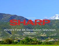 Sharp Ultra HD 8K Resolution TV Advertisement By ALJ