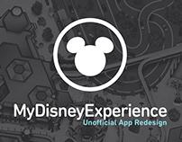 MyDisneyExperience Unofficial App Redesign