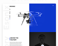 DRONEX- Single Product (DRONE) Landing Page Design