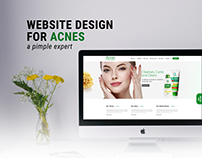 Acnes landing page concept