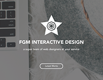 Creative Agency Template | Web UI/UX Design