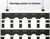 Homage poster to Catania