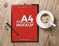 Free A4 All Template Designs Mockup