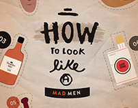How to Look Like a Mad Men - Infographic + Poster