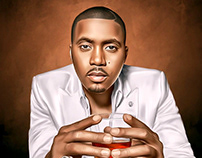 Nasir Jones Digital Painting by Wayne Flint