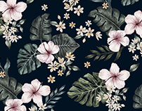 'Tropical jungle' print for Mitwill Textiles