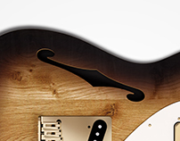 Fender - 69 Telecaster - Thinline Carbon