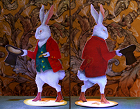 Paper figure Mr. White Rabbit