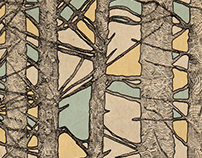 Stained Glass Trees