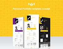 Personal Portfolio Template Concept
