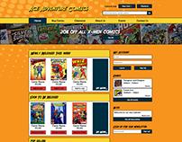 Ace Adventure Comics Website Design