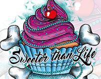 BAD TASTE Design - Cupcake Vector Design