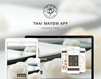 Thai Mayom Landing Page