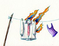 Ligeros de equipaje, arte del disco de Julio F