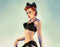 Pinup girl (Stripper) Cover  Las Vegas Weekly Magazine