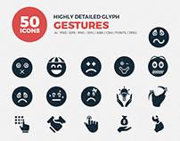 JI-Glyph Gestures Icon Set