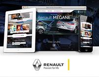 Renault Mégane landing page