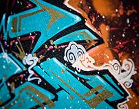 Graffiti style Chinese character