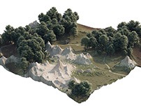 Highly detailed terrain