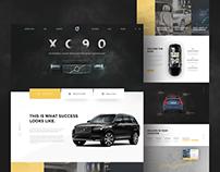 Volvo XC90 website concept