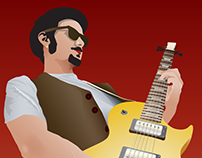 """The Guitarist"" vector drawing"