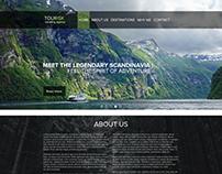 Traveling agency webpage