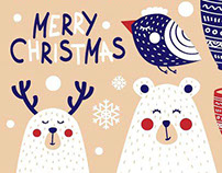Christmas cards, elements & patterns (FREE)