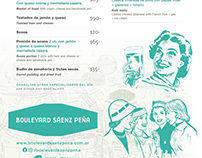 Menúes para restaurant «Boulevard Sáenz Peña»