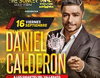 Flyer Concierto Daniel Calderon