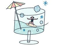 summer surfing girl