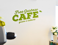 Free Gustoso Cafè - Wall Lettering