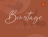 Bonstage Font + Abstract Shapes