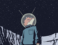 FLY ME TO THE MOON -Animated sci-fi shortfilm