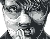 Cover illustration for S!CK magazine