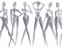 Advanced Fashion Sketching: Mock Calvin Klein
