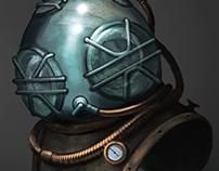 Steel Glass Dive Helmet